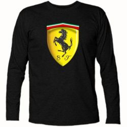 Футболка с длинным рукавом Ferrari 3D Logo - FatLine