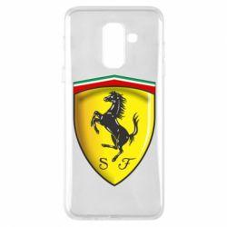 Чехол для Samsung A6+ 2018 Ferrari 3D Logo