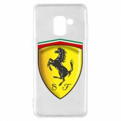 Чехол для Samsung A8 2018 Ferrari 3D Logo