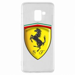 Чехол для Samsung A8+ 2018 Ferrari 3D Logo