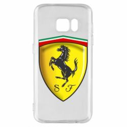 Чехол для Samsung S7 Ferrari 3D Logo