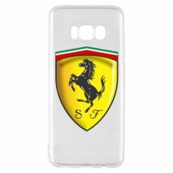 Чехол для Samsung S8 Ferrari 3D Logo