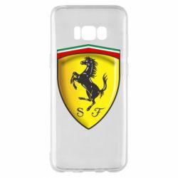 Чехол для Samsung S8+ Ferrari 3D Logo