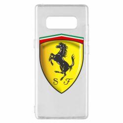 Чехол для Samsung Note 8 Ferrari 3D Logo