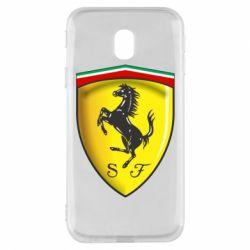 Чехол для Samsung J3 2017 Ferrari 3D Logo