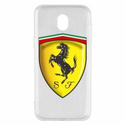 Чехол для Samsung J5 2017 Ferrari 3D Logo