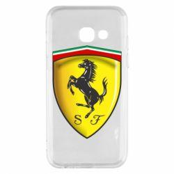 Чехол для Samsung A3 2017 Ferrari 3D Logo