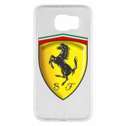 Чехол для Samsung S6 Ferrari 3D Logo