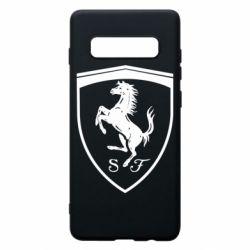 Чохол для Samsung S10+ Ferrari horse