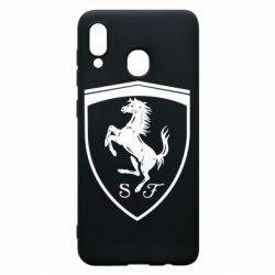 Чохол для Samsung A30 Ferrari horse