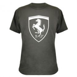 Камуфляжна футболка Ferrari horse