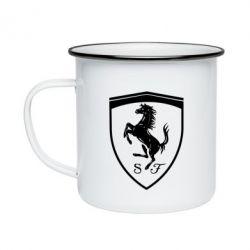 Кружка емальована Ferrari horse