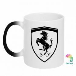 Кружка-хамелеон Ferrari horse