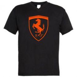 Чоловіча футболка з V-подібним вирізом Ferrari horse