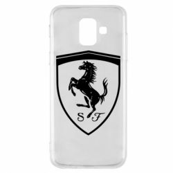 Чохол для Samsung A6 2018 Ferrari horse