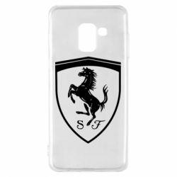 Чохол для Samsung A8 2018 Ferrari horse