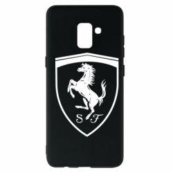 Чохол для Samsung A8+ 2018 Ferrari horse