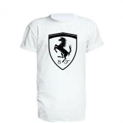Подовжена футболка Ferrari horse