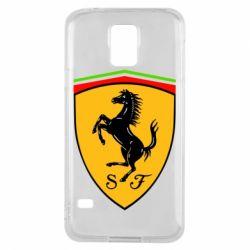 Чехол для Samsung S5 Ferrari