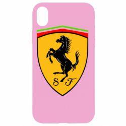 Чехол для iPhone XR Ferrari