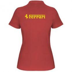 Жіноча футболка поло Ferrari - FatLine