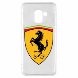 Чехол для Samsung A8 2018 Ferrari