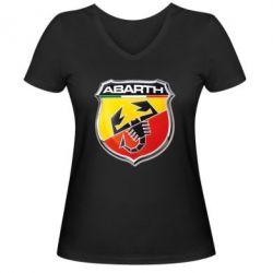 Женская футболка с V-образным вырезом FIAT Abarth