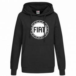 Женская толстовка Fiat logo