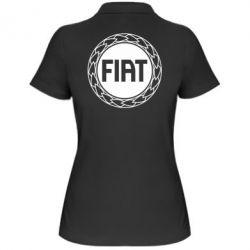 Женская футболка поло Fiat logo - FatLine
