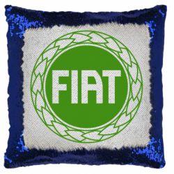 Подушка-хамелеон Fiat logo