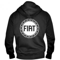 Мужская толстовка на молнии Fiat logo - FatLine