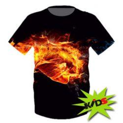 FatLine / Детская 3D футболка Fiery fist