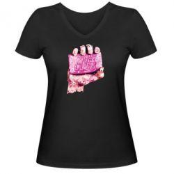 Женская футболка с V-образным вырезом Fight Club Art - FatLine