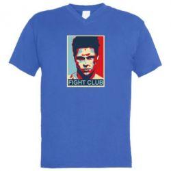 Мужская футболка  с V-образным вырезом Fight Club Tyler Durden - FatLine
