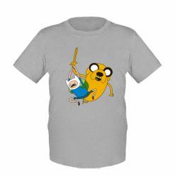 "Детская футболка Фин и Джейк ""Атака"""
