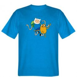 Мужская футболка Фин и Джейк танцуют 2 - FatLine
