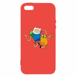 Купить Время приключений, Чехол для iPhone5/5S/SE Фин и Джейк танцуют 2, FatLine