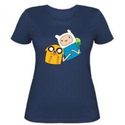 Женская футболка Фин и Джейк - FatLine
