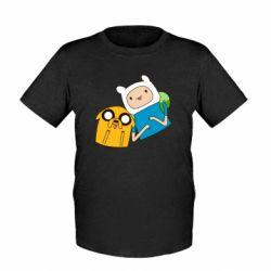 Детская футболка Фин и Джейк - FatLine