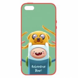 Чехол для iPhone5/5S/SE Finn and Jake Art - FatLine