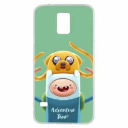 Чехол для Samsung S5 Finn and Jake Art - FatLine