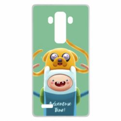Чехол для LG G4 Finn and Jake Art - FatLine