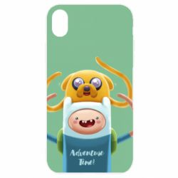 Чехол для iPhone XR Finn and Jake Art - FatLine