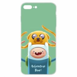 Чехол для iPhone 7 Plus Finn and Jake Art - FatLine