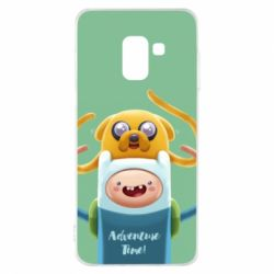 Чехол для Samsung A8 2018 Finn and Jake Art - FatLine