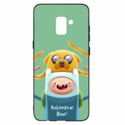 Чехол для Samsung A8+ 2018 Finn and Jake Art - FatLine