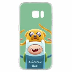 Чехол для Samsung S7 Finn and Jake Art - FatLine