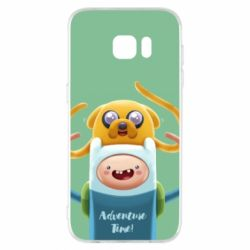 Чехол для Samsung S7 EDGE Finn and Jake Art - FatLine