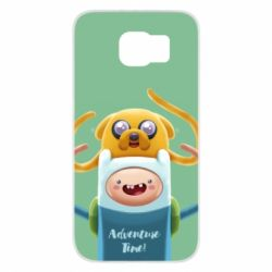 Чехол для Samsung S6 Finn and Jake Art - FatLine