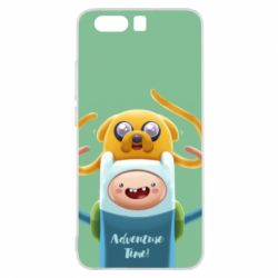 Чехол для Huawei P10 Finn and Jake Art - FatLine